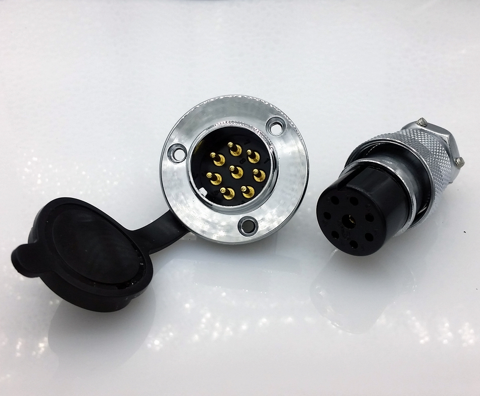 DF25 GX25 8Pins 25mm  Aviation plug  and socket Connector kit GX25 Socket+Plug+WaterProof Cap Aviation plug interface ac 500v 10a 10 pins aviation navigation connector coupler plug