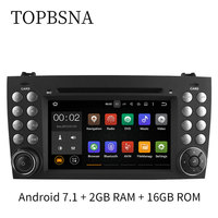 TOPBSNA Wholesale! Android 7.1 Car DVD player for Mercedes Benz SLK SLK200/R171 W171 GPS Navigation Bluetooth wifi Can bus RDS