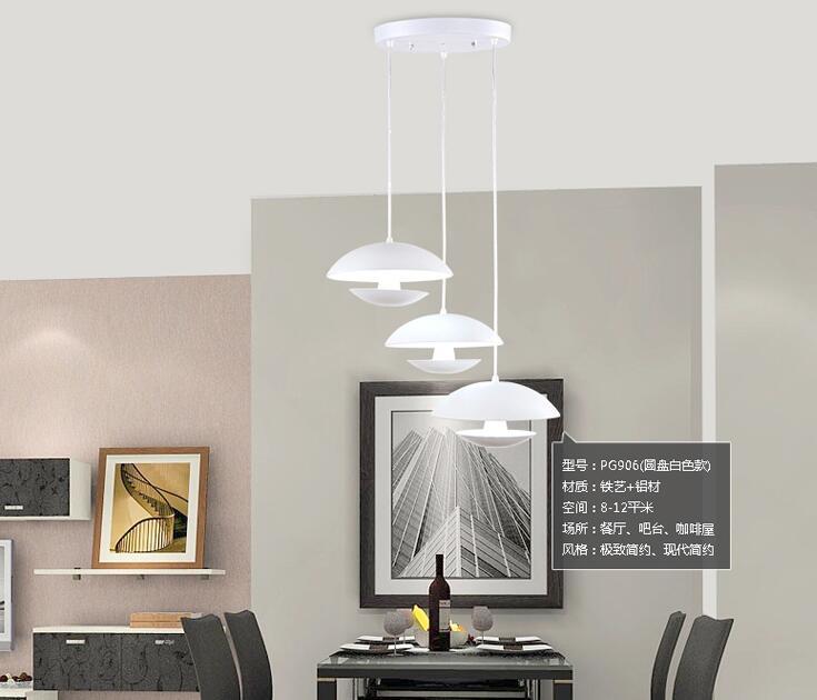 Modern Minimalist White Mushroom Dining Table Creative Nordic Lighting LED Pendant Light 18 Cm