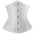 Sexy lace up cintura Cincher Underbust busk de aço Desossada espartilho top vestido