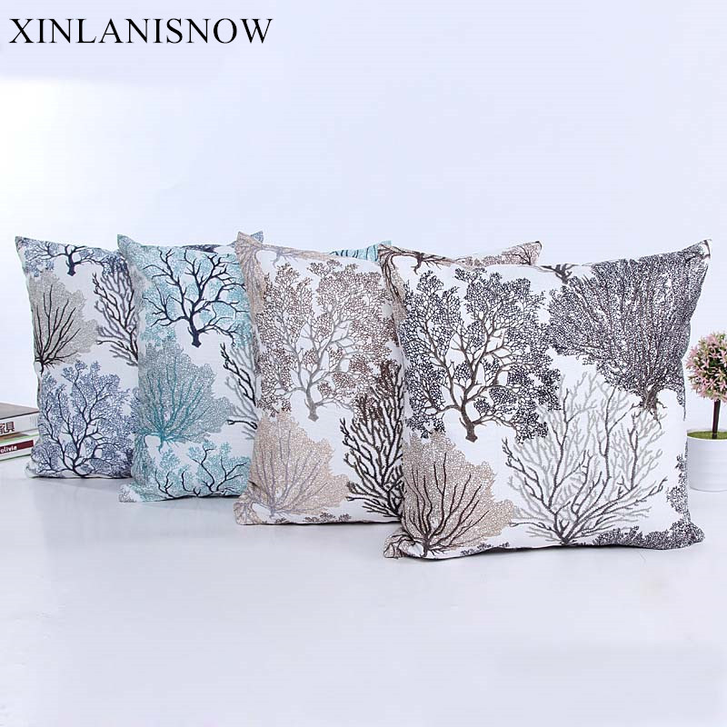 woven seat housse de coussin new fire tree silver flower throw pillows covers kussenhoes decorative
