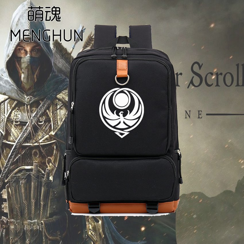 The elder scrolls new big volume backpack school bag for student gift for game fans nylon high quality backpack NB098 lucky john croco spoon big game mission 24гр 004