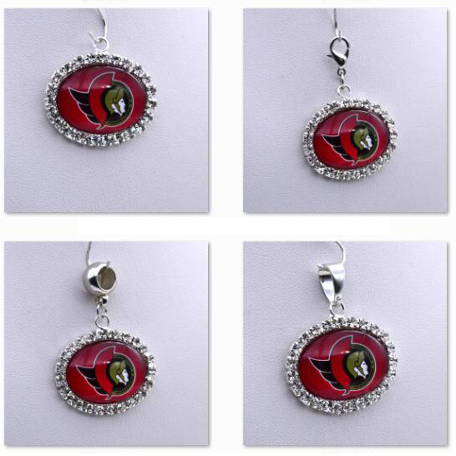 Pendant Charms Rhinestone NHL Ottawa Senators Charms for Bracelet Necklace for Women Men Ice Hockey Fans Paty Fashion 2018
