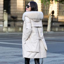 Chaqueta de cuero Real Chaqueta de invierno ropa de Mujer 2019 piel de zorro abrigo de piel de oveja Chaqueta femenina Chaqueta Mujer MY3193