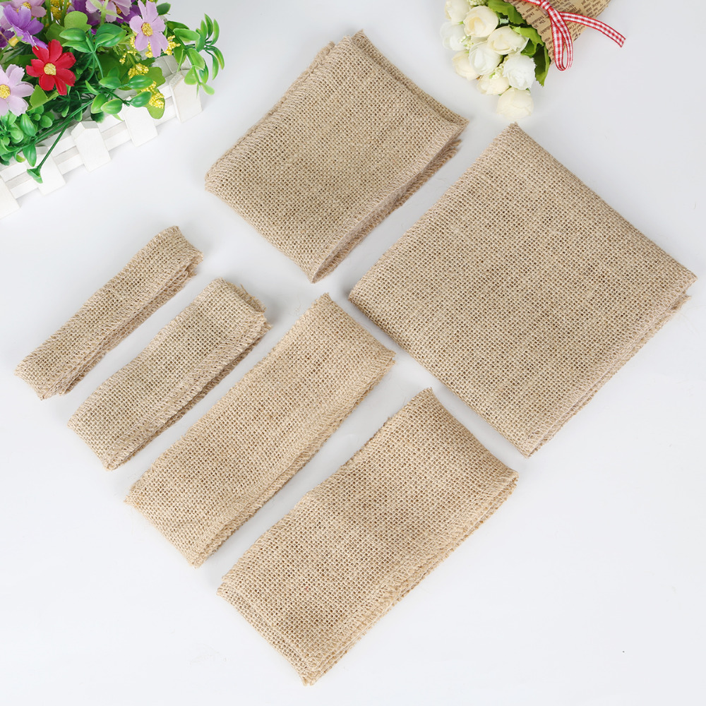 Wholesale 5 meters more size natural jute hessian burlap for Diy jute