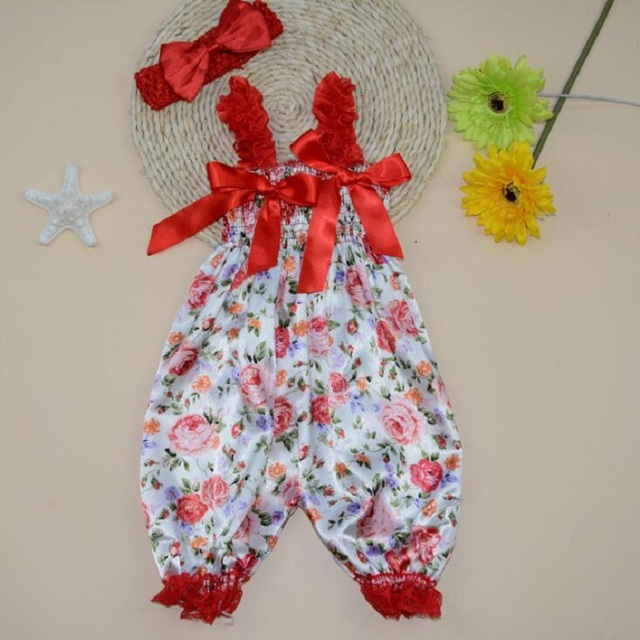 Bebé Niña niño Arco Bloomers bloomers Verano Polka Dot rosca impresa set Leopard Bebé Mono + Diadema 2 unids/set