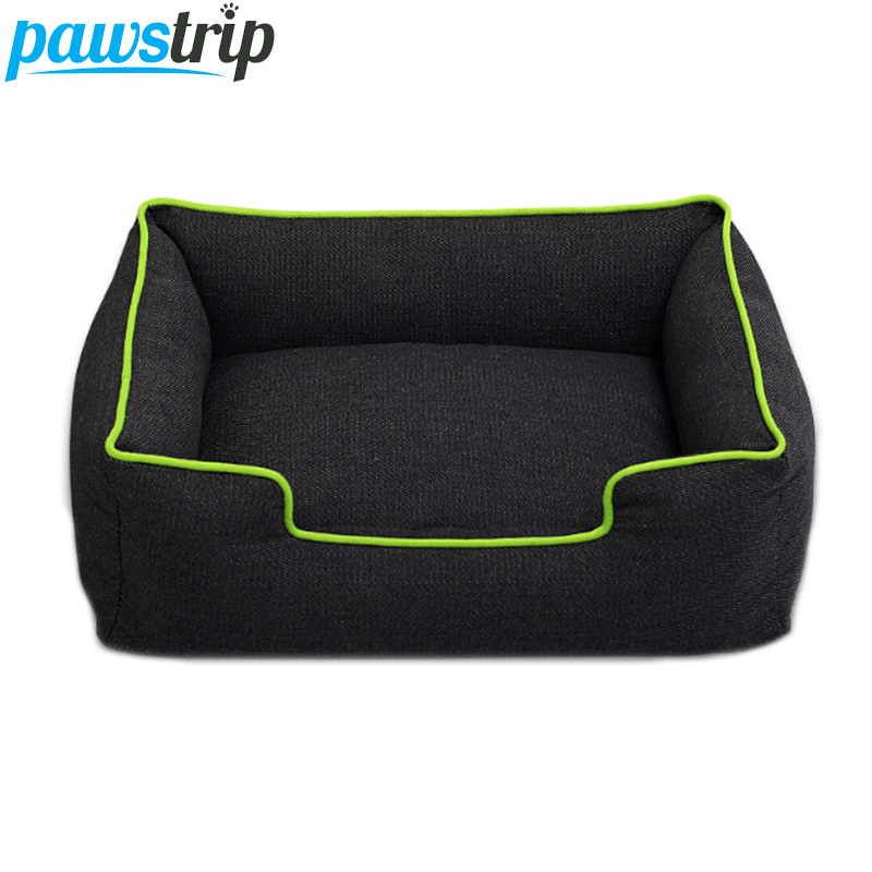 Pawstrip 4 Colors Jean Small Dog Bed Waterproof Bottom Chihuahua Puppy Beds Winter Warm Cat Bed House S/M/L