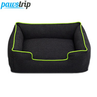 Pawstrip 4 Colors Jean Small Dog Bed Waterproof Bottom Chihuahua Puppy Beds Winter Warm Cat Bed