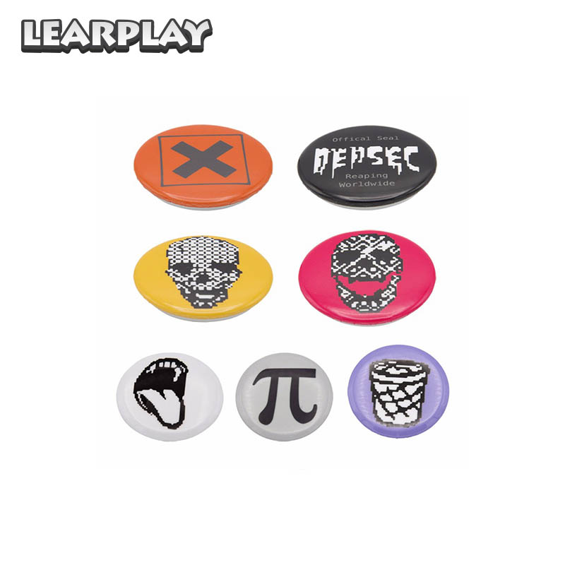 US $5 8 17% OFF|Watch Dogs 2 Badges 7pcs/set Marcus Cosplay Brooches Pins  Collectibles Fashion Costume Accessories Halloween Christmas Prop Gift on