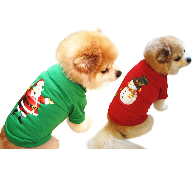 Fun Christmas Dog Clothes For Dogs Chihuahua Winter Cotton Dog Christmas Costume Pet Clothes Warm Pet Cat Hoodie Coat Clothing