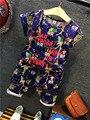 2016 лето сова мультфильм мальчиков одежда набор детей отдыха bib девушки летом цветок одежды наборы дети 2 шт. спортивный костюм набор