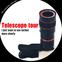 YIFUTE Lenses Universal Clip 8X Zoom Telephoto Lens HD Mobile Phone Camera Lenses For Apple iPhone 5 Samsung Xiaomi Redmi Huawei