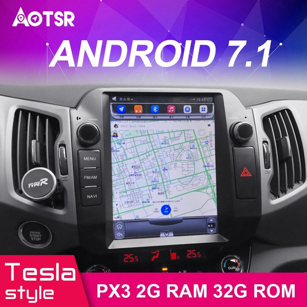 Cheap Android 7.1 Car GPS Navigation car DVD Player For KIA Sportage 2016+ Tesla style radio tape recorder auto headunit multimedia 1
