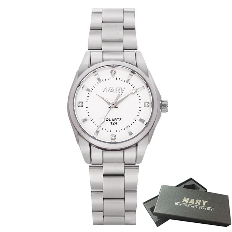 2018 NARY Lady Rhinestone Fashion Watch Women Quartz Watch Women's Wrist watches Female Dress Clock relogio feminino Pink watch