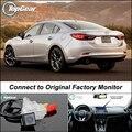 Cámara del coche Conectar a La Pantalla Original de Fábrica/Monitor Para Mazda 6 M6 Atenza GJ 2013 Up Alta Calidad de Visión Trasera Cámara de Copia de seguridad