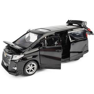 Image 1 - גבוהה סימולציה טויוטה Alphard MPV 1:32 סולם סגסוגת למשוך בחזרה רכב צעצוע, אוסף דגם, משלוח חינם