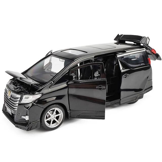 גבוהה סימולציה טויוטה Alphard MPV 1:32 סולם סגסוגת למשוך בחזרה רכב צעצוע, אוסף דגם, משלוח חינם