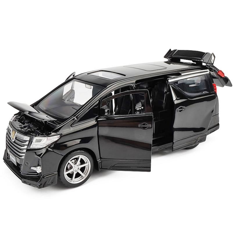 High Simulation Toyota Alphard MPV 1:32 Scale Alloy Pull Back Car Toy,collection Model,free Shipping