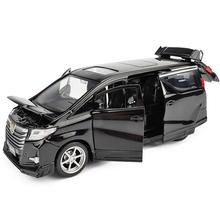 高シミュレーショントヨタアルファード MPV 1:32 スケール合金車のおもちゃ、コレクションモデル、送料無料