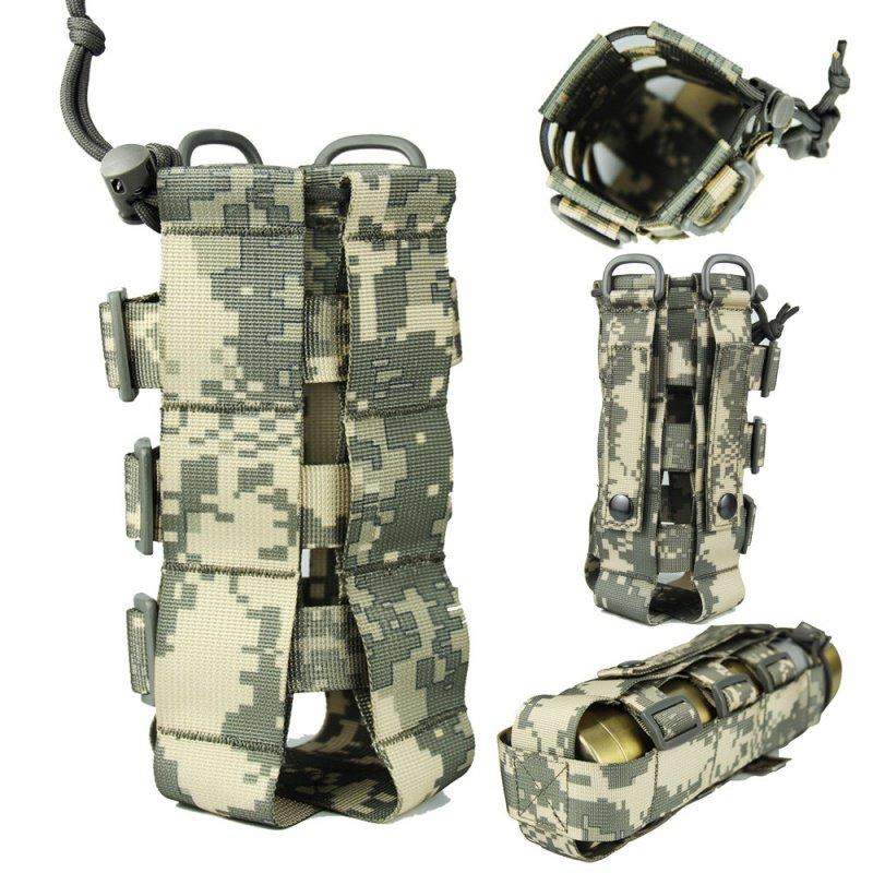 Image 2 - Наружная тактическая бутылка для воды сумка нейлон Военная фляга Чехол кобура чайник для путешествий сумка 0.5L 2.5L-in Мешки для воды from Спорт и развлечения