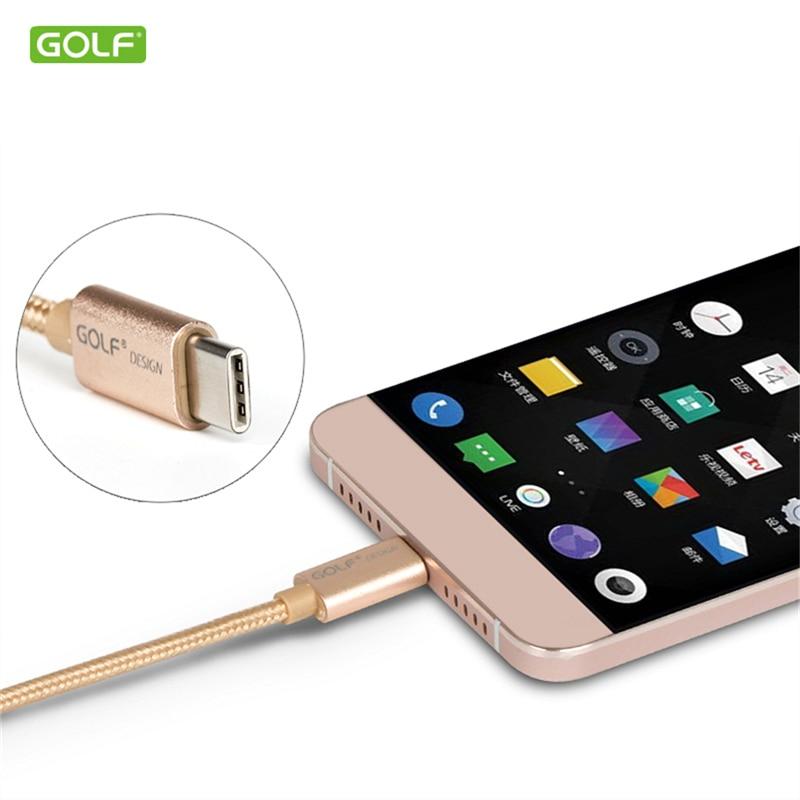 GOLF USB Tipe-C Kabel Sync Data Biaya Untuk Huawei P20 Honor 8 9 10 - Aksesori dan suku cadang ponsel - Foto 2