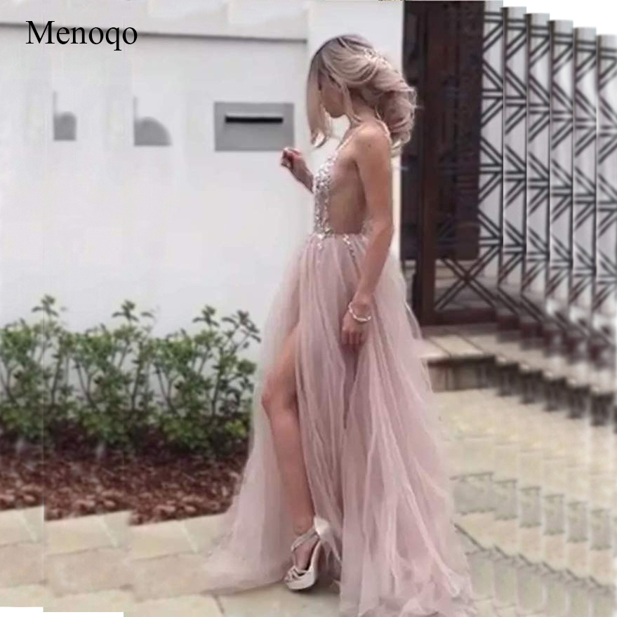 e8dab9d9103e Cheap Prom Dresses, Buy Directly from China Suppliers:Sexy Tulle Long Prom  Dresses 2019