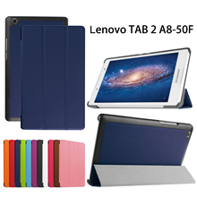 For Lenovo Tab 2 A8-50LC Tablet Case 8 inch Stand Flip Leather for Lenovo Tab2 A8 50 Protective Cover Case +Film+Stylus Pen