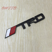 1pc 3D Metal TRD Emblem badge Sticker For toyota corolla rav4 yaris camry prius auris Avensis Reiz HighLander Car Styling