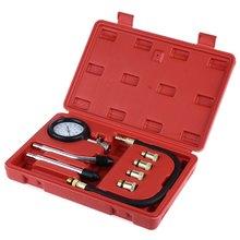 Nuevo Motor de Gasolina Del Cilindro de Presión de Compresión Compresor Gauge Meter Prueba de Fugas Probador de Diagnóstico/Conjunto de Herramientas de Diagnóstico