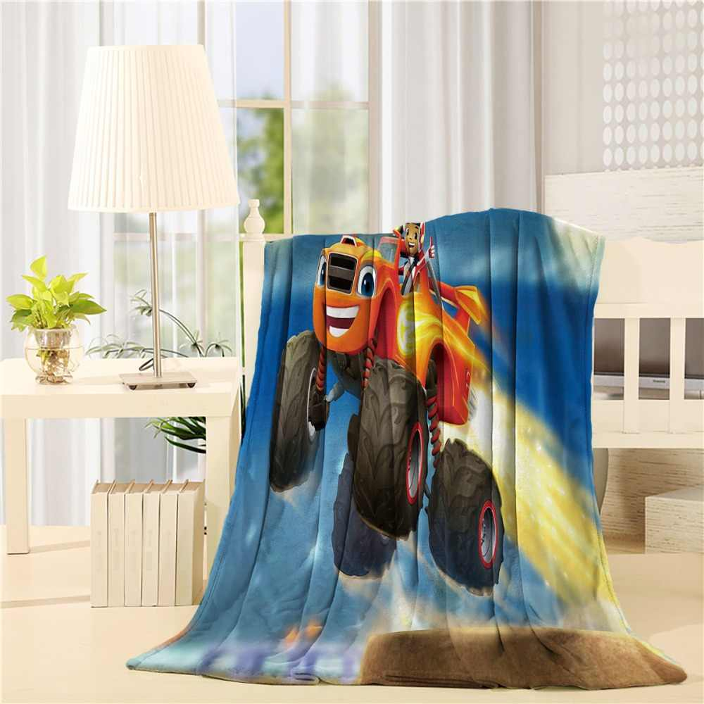 Swell Custom Design Blaze And The Monster Machines Flannel Throw Blanket Lightweight Cozy Bed Sofa Blankets Super Soft Fabric Dailytribune Chair Design For Home Dailytribuneorg