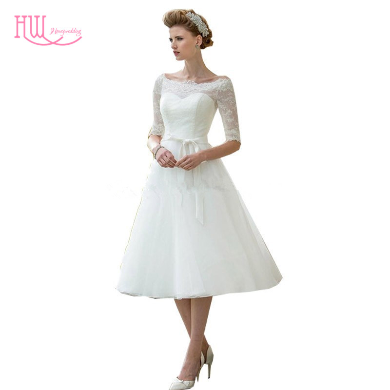 Popular cheap tea length wedding dresses buy cheap cheap for Cheap wedding dresses tea length
