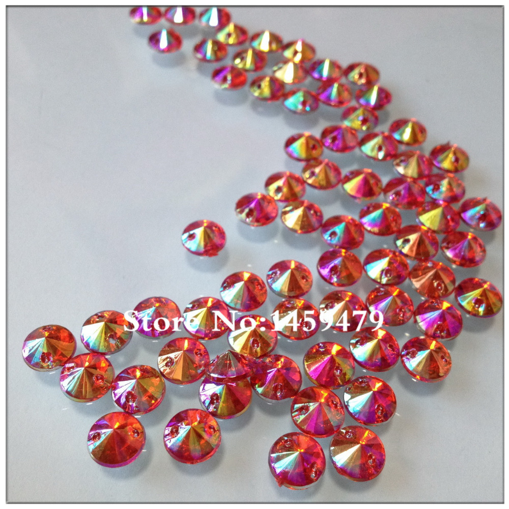 Loose Sew on Stones Free Shipping 500pcs 8mm Big Red AB Color Acrylic Crystal  Rhinestones Round 53951a55df1b