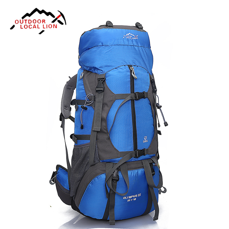 ФОТО 65L Waterproof Outdoor Hiking Backpack Climbing Trekking Camping Mountain Travel Bags Pack Knapsack