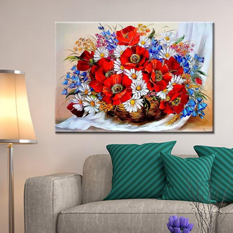 Diamante rotondo fiori pittura per soggiorno d mosaico fai for Pittura salone