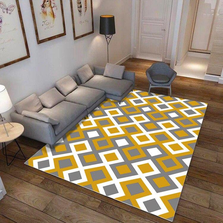 Vintage moderne mode classique géométrique rayure décorative zone tapis pour salon grand grand grand tapis chambre antidérapant