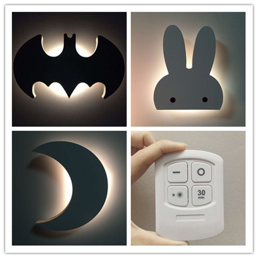 Bedside Lamp Wall LED Cute Learning Reading Wall Lamp 110 ~ 220v Wall-mounted Wireless Bedroom Lighting Wall Lamp Luminarias 2w 120lm red blue led wall lamp 110 220v