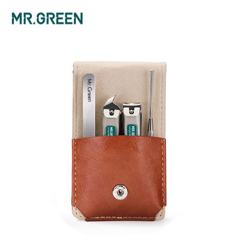MR.GREEN Professional Stainless steel nail clippers set home 4 in 1 manicure tools grooming kit art portable nail personal clean 2