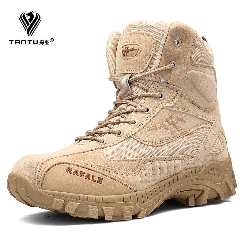 TANTU Winter Military Boots Men Fashion Army Boots Men' s Tactical Desert Combat High Top Ankle Boots Men Outdoor Work Shoes 2018 fashion combat boots men winter footwear martin military desert boots men s ankle boots snow shoe work plus size