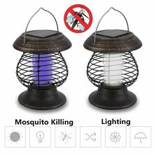 Mosquito Repellent Pest Killer  Insect Trap Lamp Solar Powered Outdoor Garden LED Light   Bug Zapper Killer Path Lighting недорого