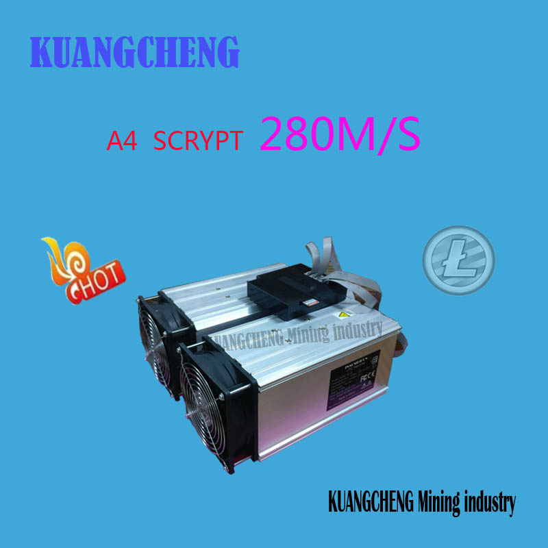 KUANGCHENG Mining industry sell LTC MINER A4 280M Litecoin 14nm SCRYPT Miner better than A2 Terminator ZEUS GRIDSEED G-BLAD hot sale used gridseed miner 2 5 3mh s 50w half of scrypt miner ltc mining machine gridseed blade ship by dhl or ems