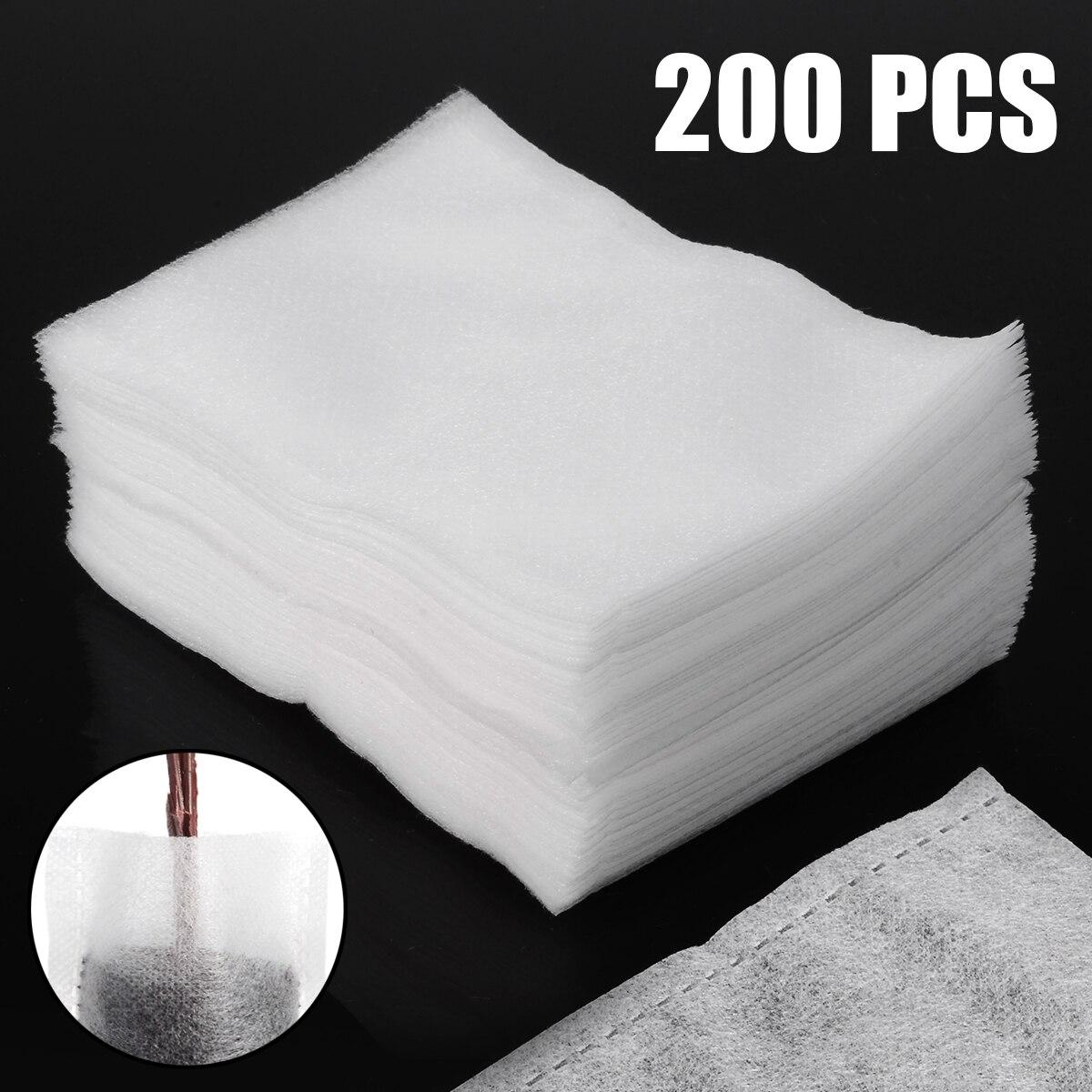 200pcs/lot New Biodegradable Non-woven Fabric Nursery Bags 8cm*10cm White Eco-friendly Flower Plant Grow Bags Seedling Pots
