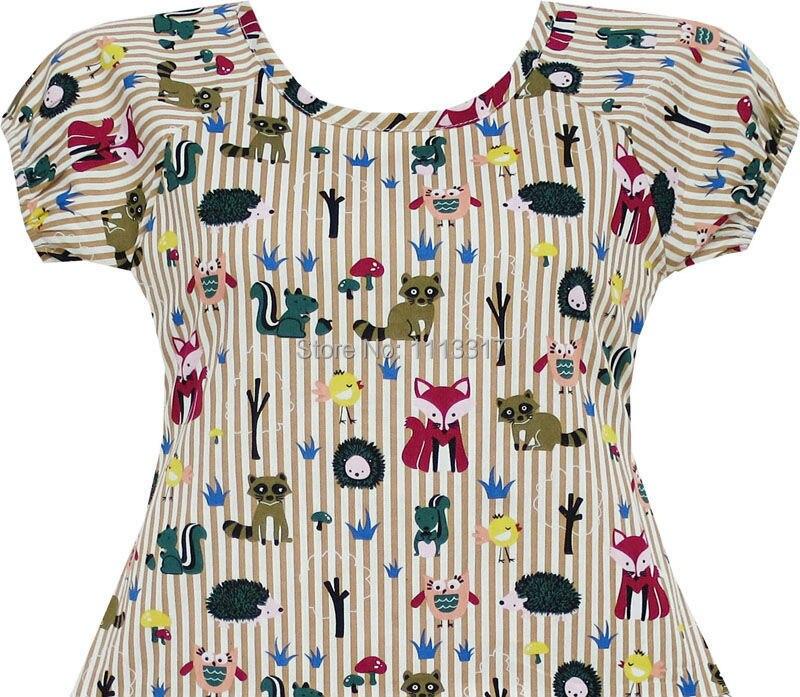 Girls Dress Fox Squirrel Bird Mushroom Striped Cotton 2018 Summer Princess  Wedding Party Dresses Kids Clothes Size 7-14 Pageant - aliexpress.com -  imall.com 69c9ed83790a