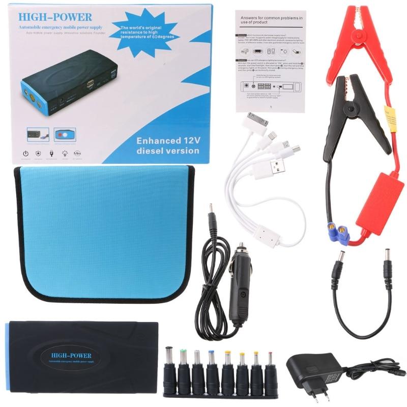 OOTDTY 38000mAh 12V/1A Car Portable Jump Starter Emergency Power Supply Power Bank 600A 5pcs hand screw tap screw thread m3 m4 m5 m6 m8 thread tool metric plug tap set drill set tap die