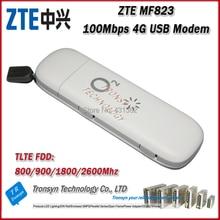 Hot Sale Original Unlock 100Mbps ZTE 4G LTE USB Dongle MF823 Support LTE FDD LTE FDD 800/900/1800/2600Mhz
