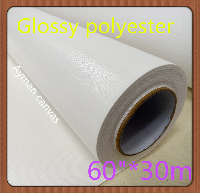 """Kind-Hearted 60""""*30m Glossy 260gsm Polyester Printing Wholesale Stretchable Canvas"""