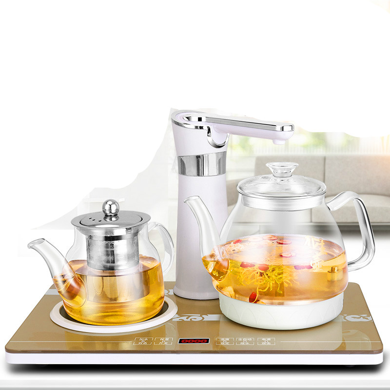 Electric kettle Tea induction furnace tea with automatic water kettles glass pumping Overheat Protection цена