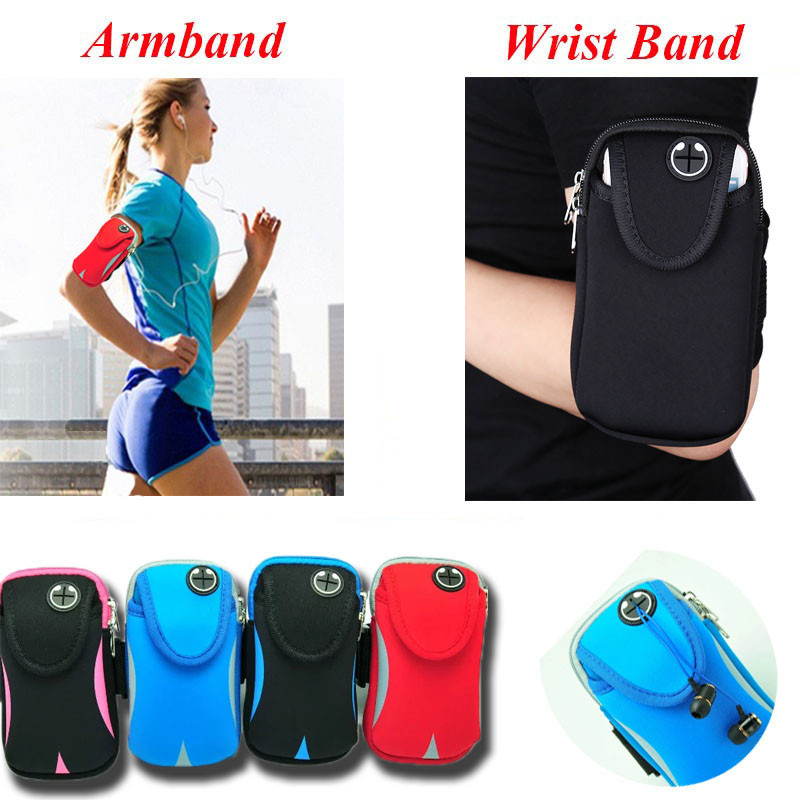 Sport Running Armband For iPhone 7 8 Plus 5.7 inch Universal Waterproof Sport Phone Bag Case For Samsung S8 S9 Huawei P9 P10