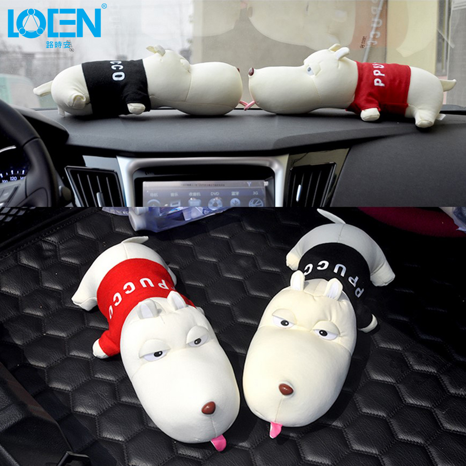 LOEN Ornaments Auto Inside Crafts Decoration Cloth Cute Home Decoration Dolls Dog House dashboard Car Furnishing Articles
