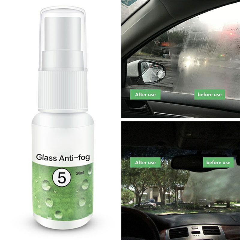 1PC 20ml Anti-fog Agent Waterproof Rainproof Anit-fog Spray Car Window Glass Bathroom Cleaner Car Cleaning Car Accessories