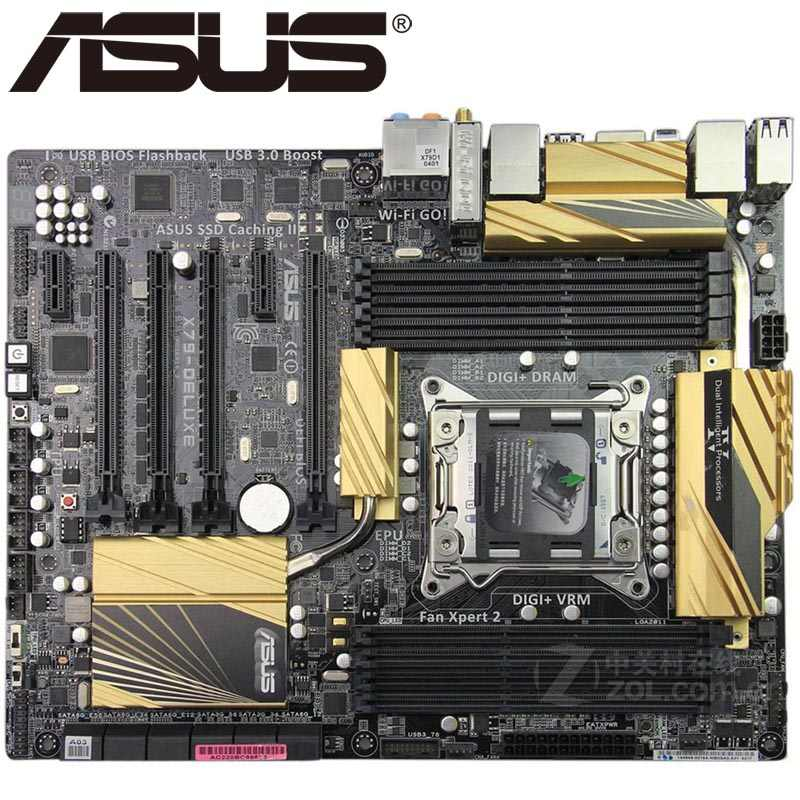 Asus X79-DELUXE Desktop Motherboard X79 Socket LGA 2011 Core i7 DDR3 64G ATX UEFI BIOS Original Used Mainboard On Sale